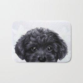 Toy poodle Black Bath Mat