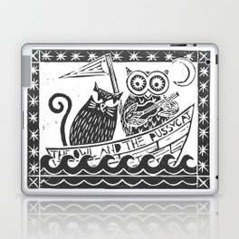The Owl And The Pussycat (white background) Laptop & iPad Skin