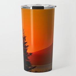 Orange Sky - Mt. Redoubt Travel Mug