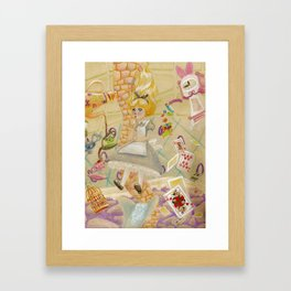 Down, Down, Down... Framed Art Print