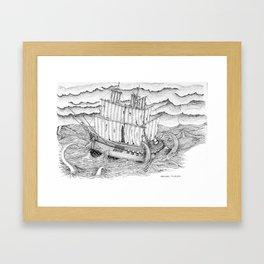 Ship and sea Framed Art Print