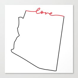 home sweet home - Arizona - Love Canvas Print