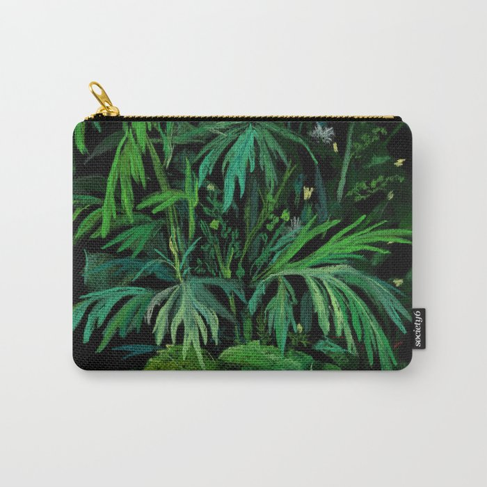 Green & Black, summer greenery Carry-All Pouch