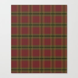 Red and Green Tartan Canvas Print