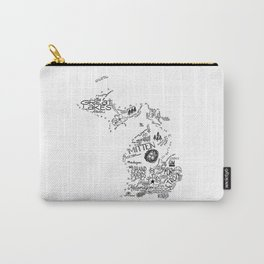 Michigan Hand Drawn Type and Illustrations Carry-All Pouch