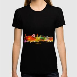 London skyline watercolor T-shirt
