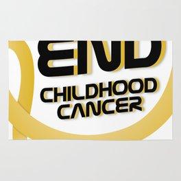 Support Childhood Cancer Awareness Rug
