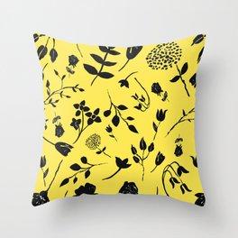 ink flower  Throw Pillow