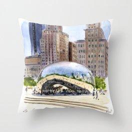 Cloud Gate - Chicago Throw Pillow