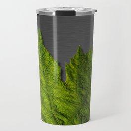 Green Leaf & Metallic Background Travel Mug