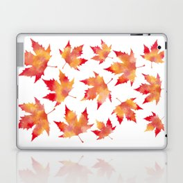 Maple leaves white Laptop & iPad Skin