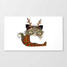 Christmas Soju Fox Canvas Print