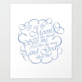 Baby Boy Rhyme Art Print