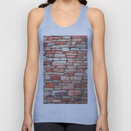Brick Wall (Color) Unisex Tank Top