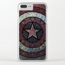 America Mandala Clear iPhone Case