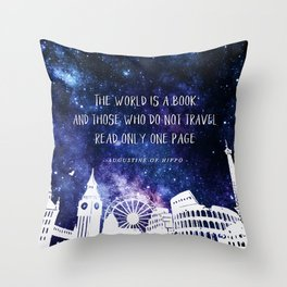 The world is a book Throw Pillow