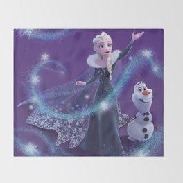 Elsa and Olaf Throw Blanket