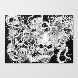 Evil Death Spawn Illustration Art Print Canvas Print