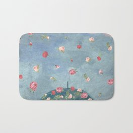 I Wished for a Rose Rain for You Bath Mat