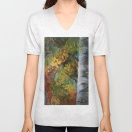 Birch Trees - III Unisex V-Neck