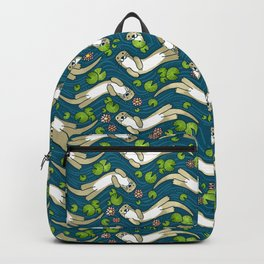 Otter and Water Lily Backpack