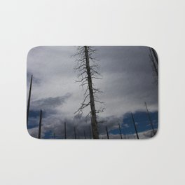 Burned Tree Against Sky Bath Mat