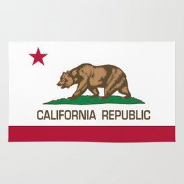 California flag, High Quality Authentic Rug