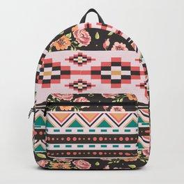 Floral Aztec Tribals Backpack