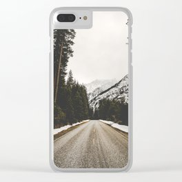 Great Mountain Roads - Nature Photography Clear iPhone Case