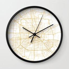 HOUSTON TEXAS CITY STREET MAP ART Wall Clock