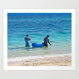Fiji Days Art Print