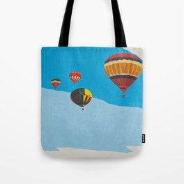 Four Hot Air Balloons Tote Bag