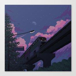 Moonrise twilight Canvas Print