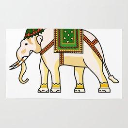 Watercolour Tribal Elephant Clothing Artwork Rug
