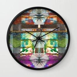 Palm Stripe Wall Clock
