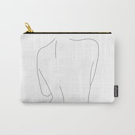 Nude back line drawing illustration - Drew Carry-All Pouch
