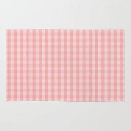 Large Lush Blush Pink Gingham Check Plaid Rug