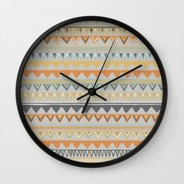 Colorful Hand Drawn Ethnic Pattern Wall Clock