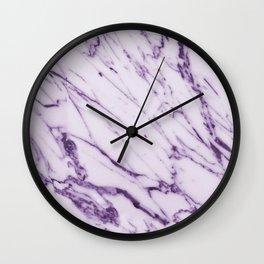 Violet Marble Design Wall Clock
