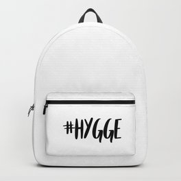 #hygge - scandi quote trend hashtag Backpack
