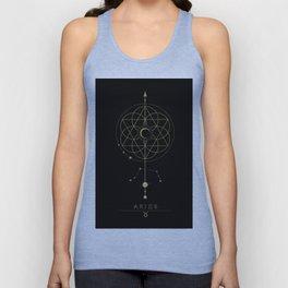 Aries Zodiac Constellation Unisex Tank Top