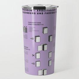 Buchbinden – Arbeitsschritte Klebebindung und Fadenheftung Travel Mug