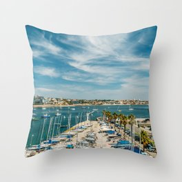 Luxury Yachts And Boats In Cascais Port At Atlantic Ocean, Wall Art Print, Luxury Resort Art, Poster Throw Pillow