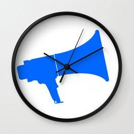 Blue Isolated Megaphone Wall Clock