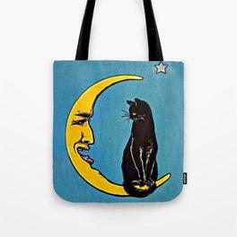 Black Cat & Moon Tote Bag