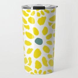 Flowers in Yellow Travel Mug