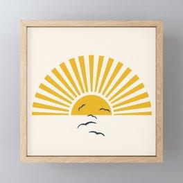 Minimalistic Summer I Framed Mini Art Print