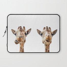 Funny Giraffe Portrait Art Print, Cute Animals, Safari Animal Nursery, Kids Room Poster, Wall Art Laptop Sleeve