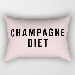 Champagne Diet Funny Quote Rectangular Pillow