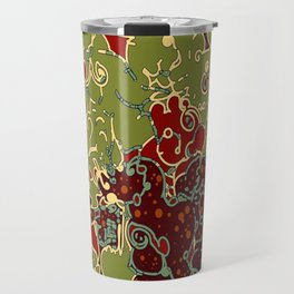 Abstract swirls digital poster/. Travel Mug